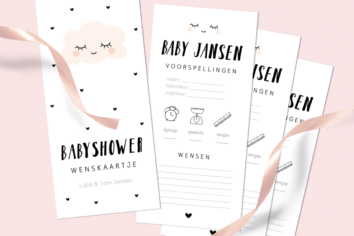 Zelf babyshower invulkaarten maken