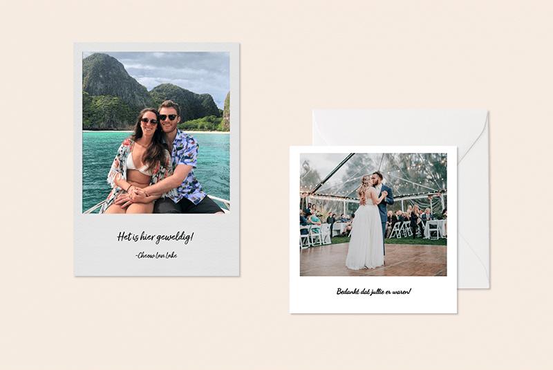 Polaroid als fotokaart