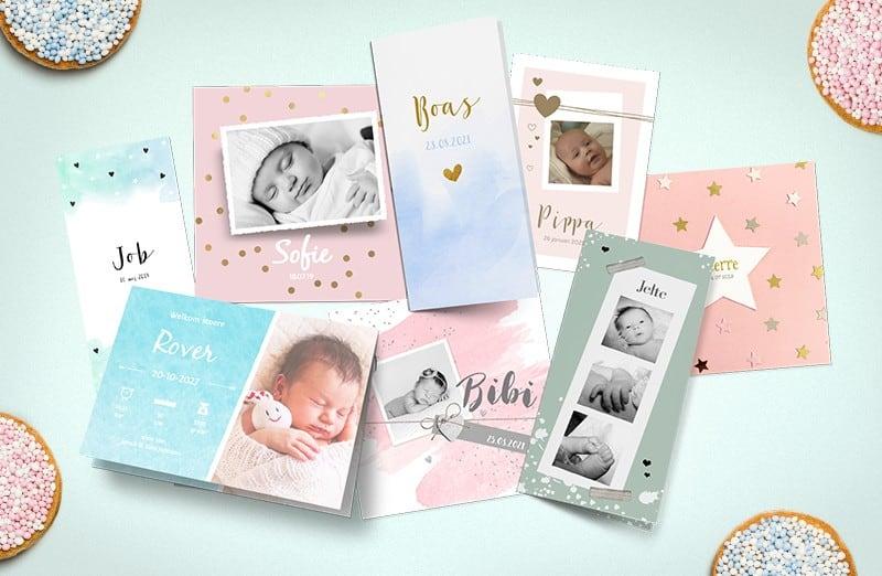 Kraamtraditie geboortekaartjes
