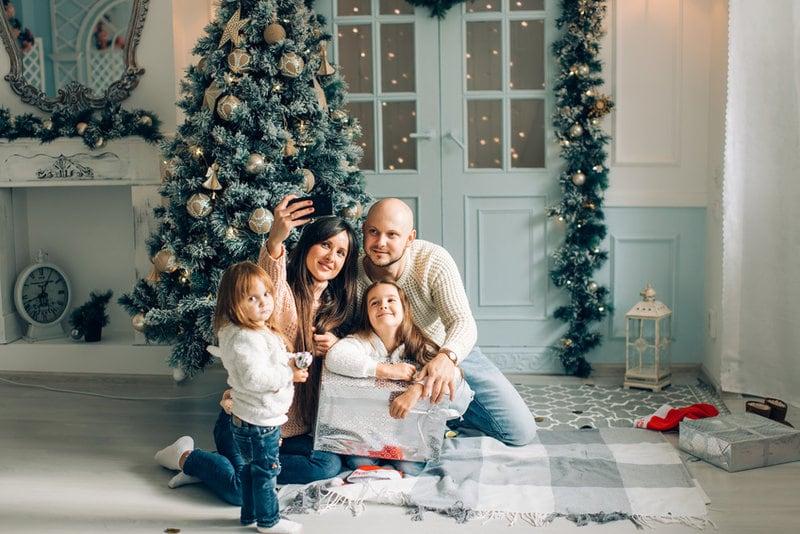 Originele kerstfoto