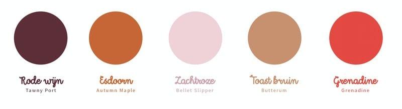 Kleur trends 2017 2018