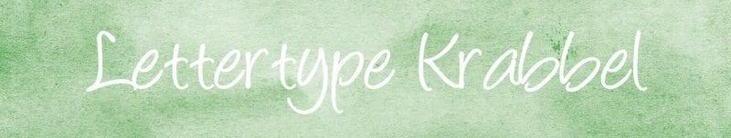Lettertypes voor kerstkaarten: krabbel