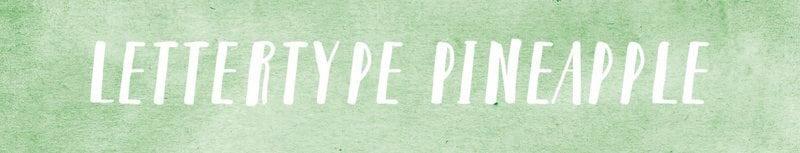 Lettertypes voor kerstkaarten: Pineapple
