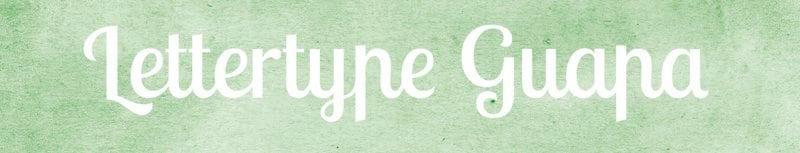 Lettertypes voor kerstkaarten: Guapa