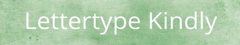 Lettertypes voor kerstkaarten: Kindly