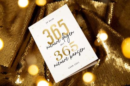 Wat voor tekst zet je op een nieuwjaarskaart