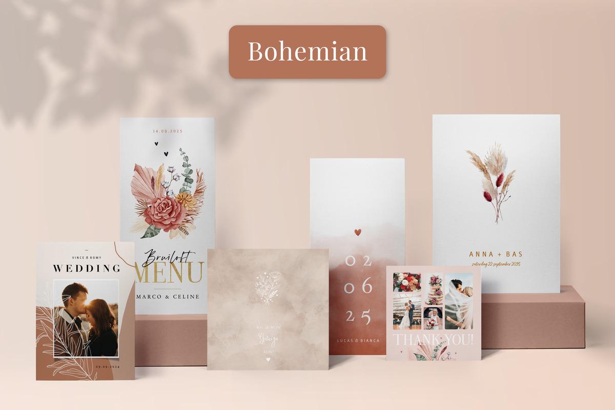 Bohemian trouwkaarten 2021