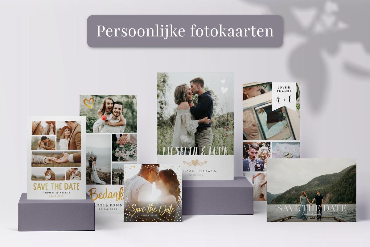 Trouwkaarten met foto