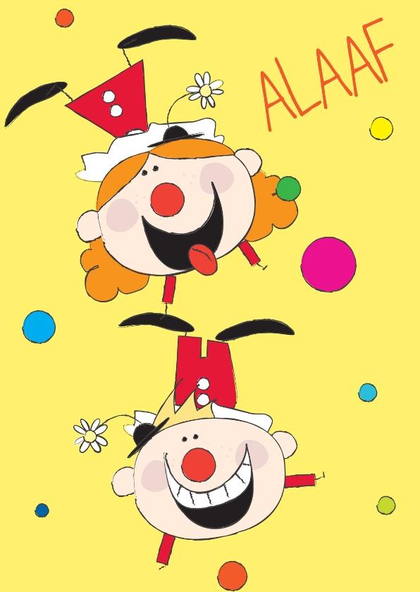 Carnavalskaarten - Alaaf clowns