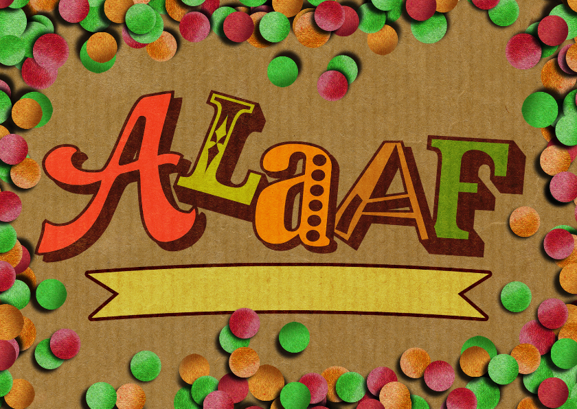Carnavalskaarten - carnaval Alaafconfetti