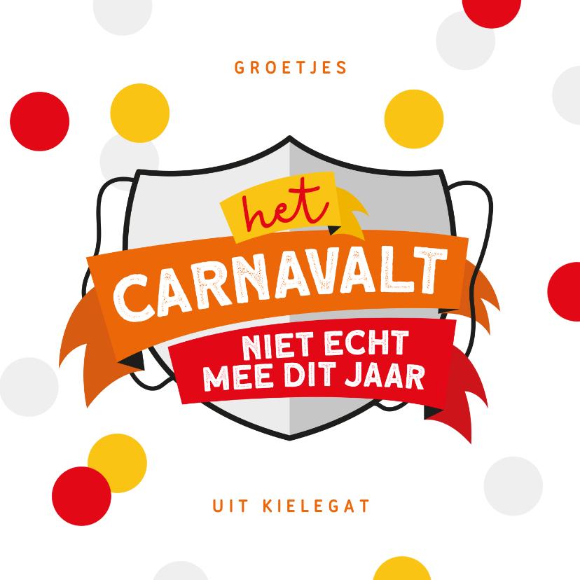 Carnavalskaarten - Carnavalskaart Breda Kielegat corona confetti