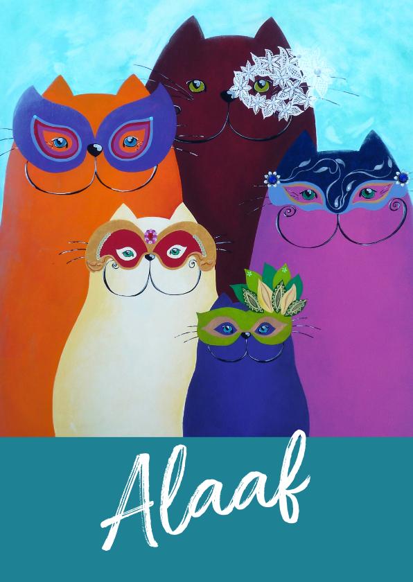 Carnavalskaarten - Carnavalskaart Katten