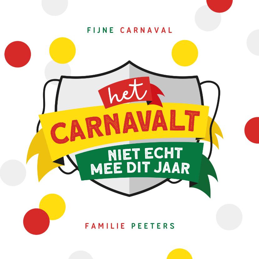 Carnavalskaarten - Carnavalskaart Maastricht Mestreech corona confetti