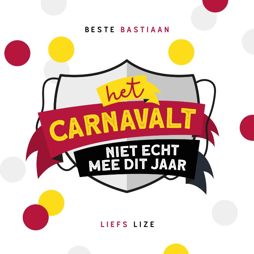 Carnavalskaarten - Carnavalskaart Nijmegen Knotsenburg corona confetti feestje