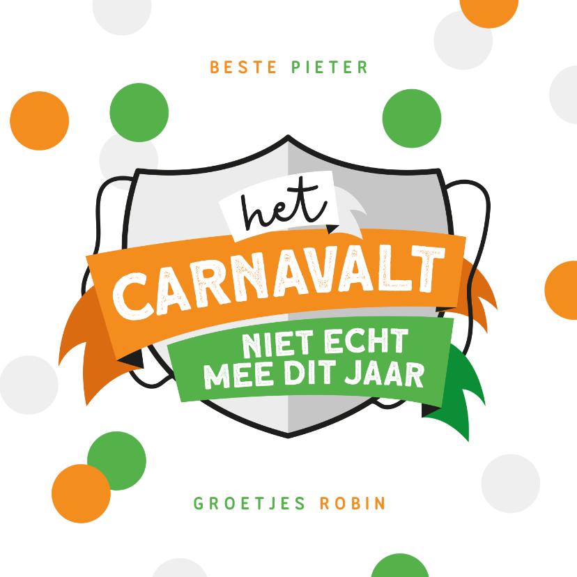 Carnavalskaarten - Carnavalskaart Tilburg kruikenzeiker kruikenstad confetti