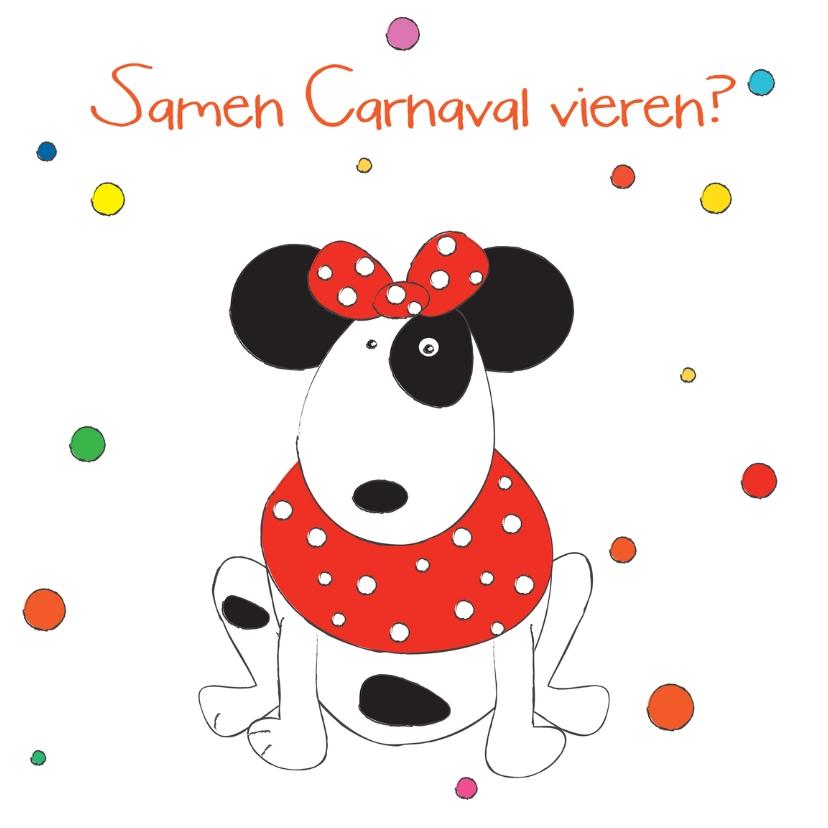 Carnavalskaarten - Samen Carnaval vieren hond