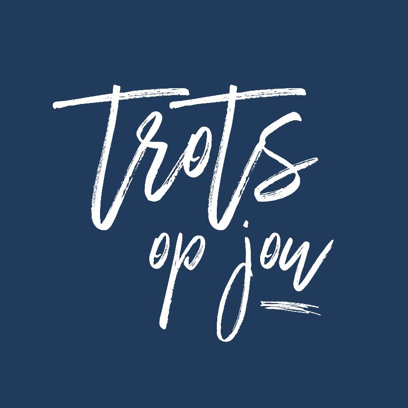 Coachingskaarten - Coaching - Trots op jou - blauw