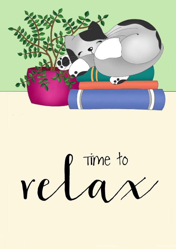Coachingskaarten - Coachingskaart - relax kat - SK