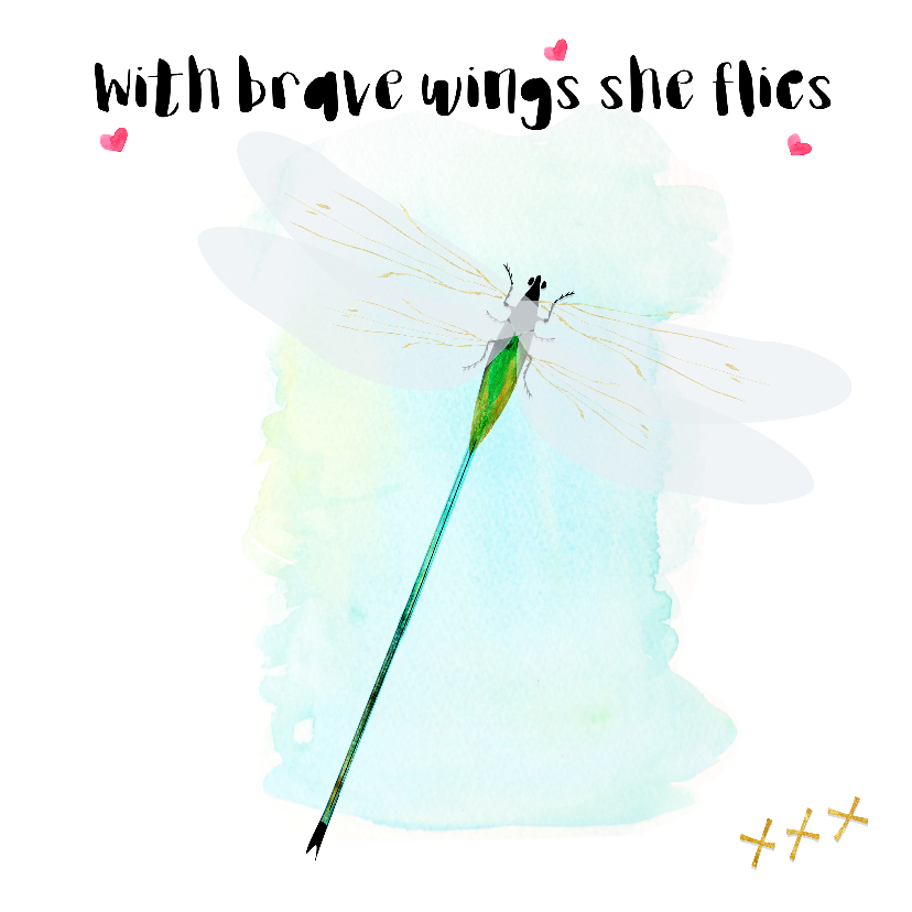 "Coachingskaarten - ""Coachingskaartje Dragonfly brave wings - SD"""