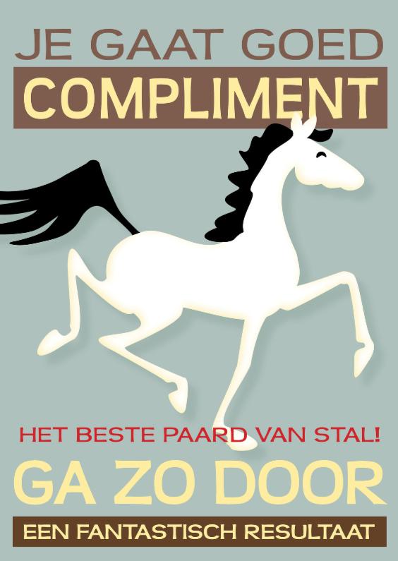 Coachingskaarten - Compliment beste paard van stal