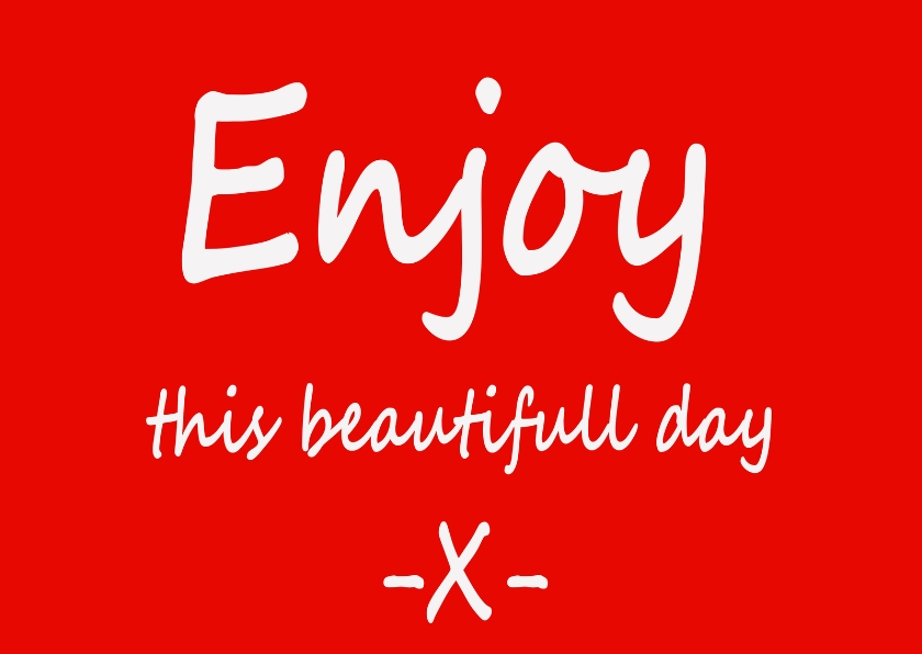 Coachingskaarten - Enjoy this day