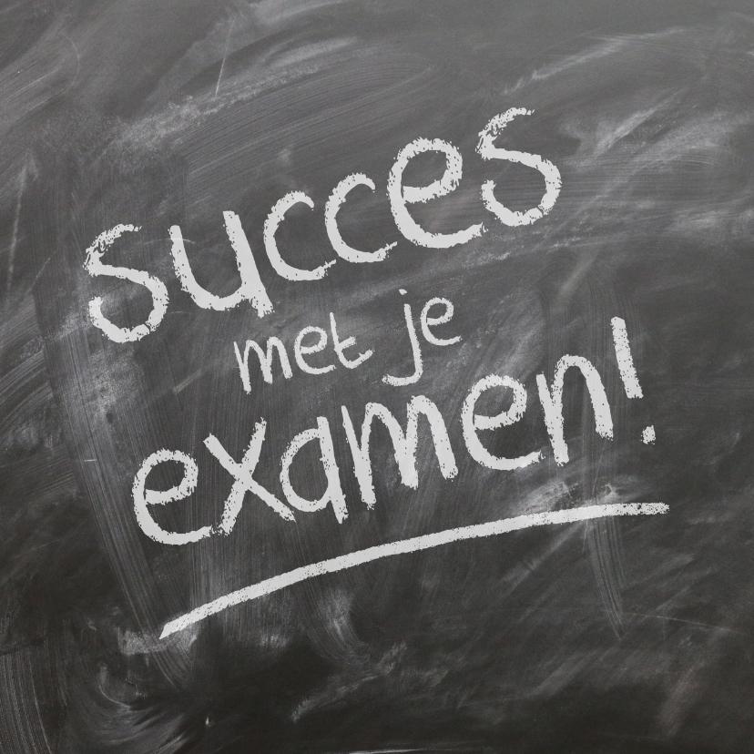 Coachingskaarten - Succes met je examen kaart