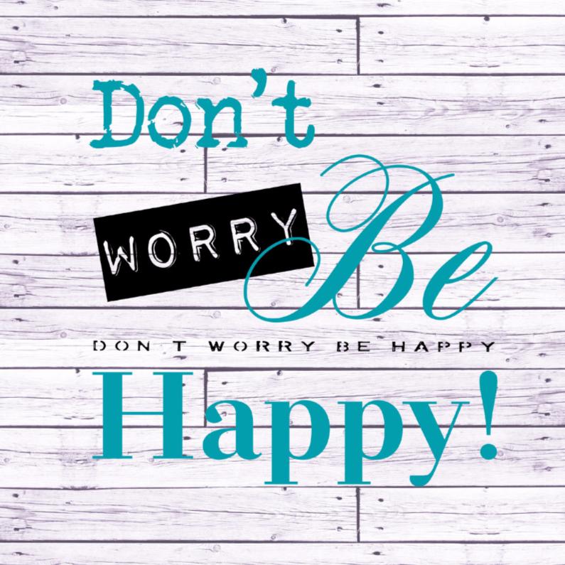 Coachingskaarten - Woorden Don't worry ... - BK