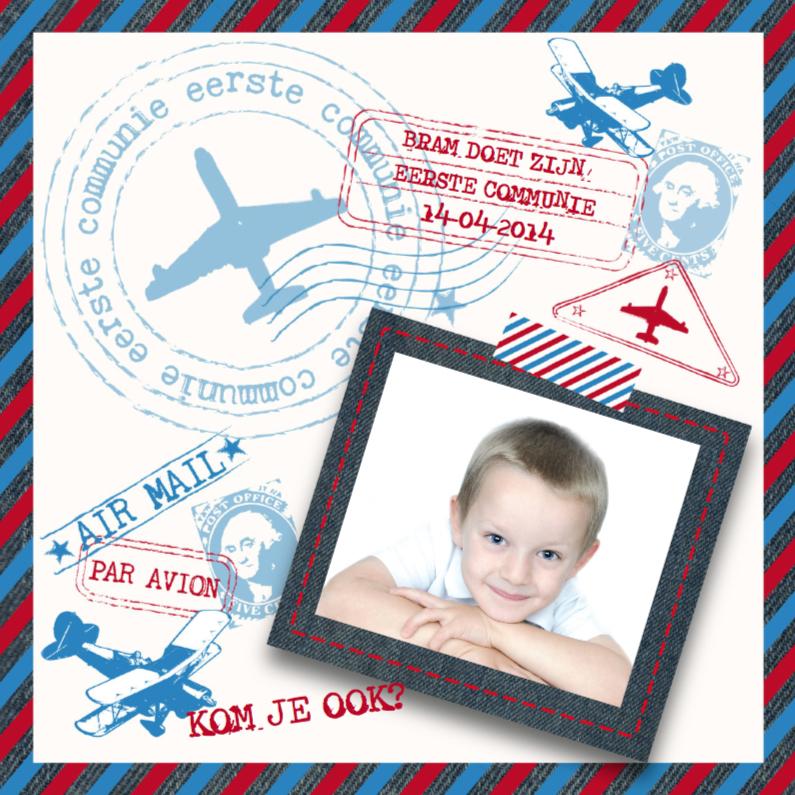 Communiekaarten - Communie Airmail