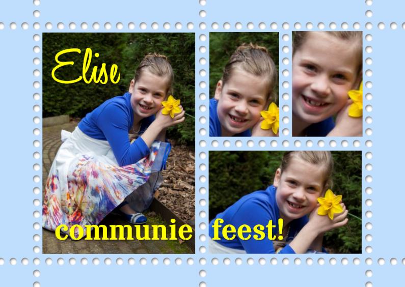 Communiekaarten - communie collage