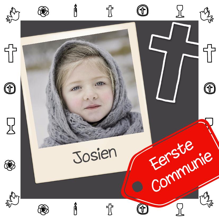 Communiekaarten - Communie doodle foto - DH