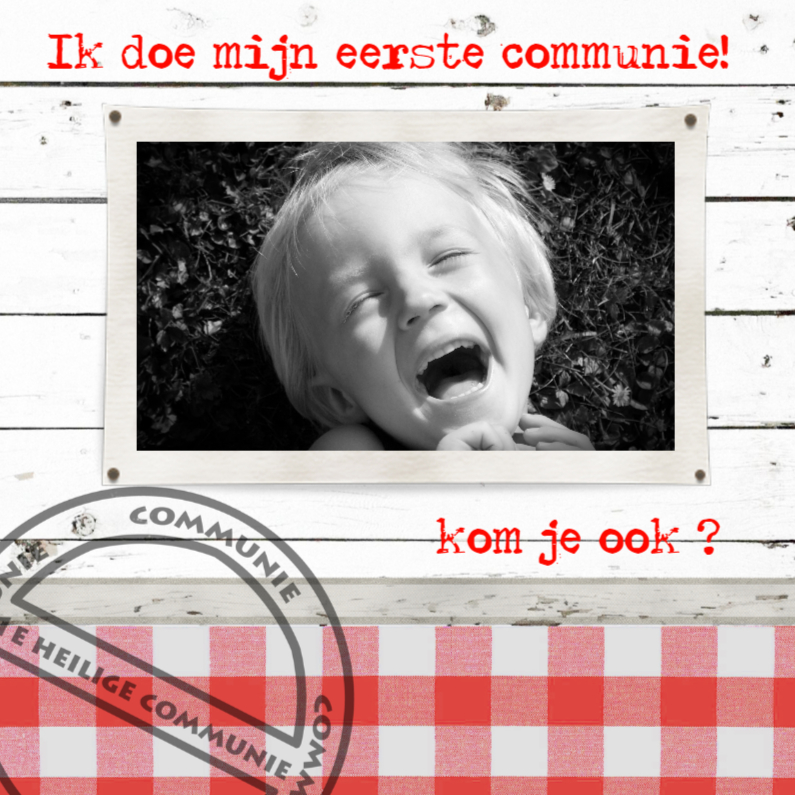 Communiekaarten - communie jongen-made4you