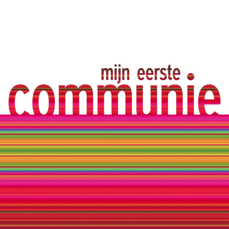 Communiekaarten - communie kleurbanen 2