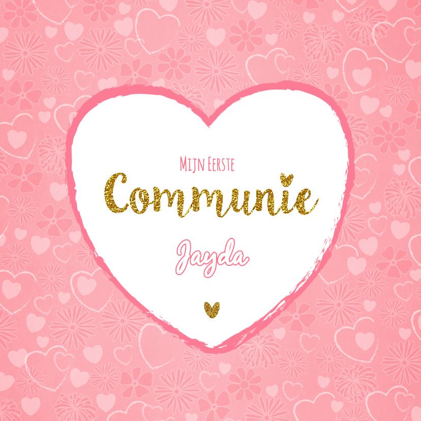 Communiekaarten - Communie lief en vleugje glamour