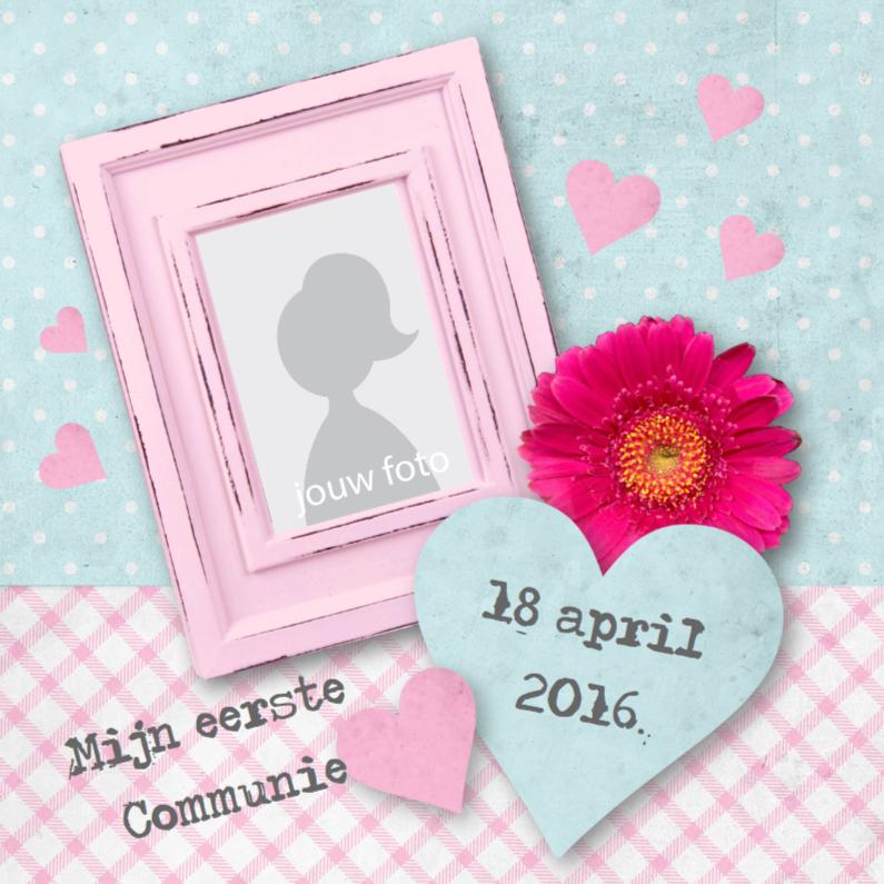 Communiekaarten - Communie Meisje Shabby Chic