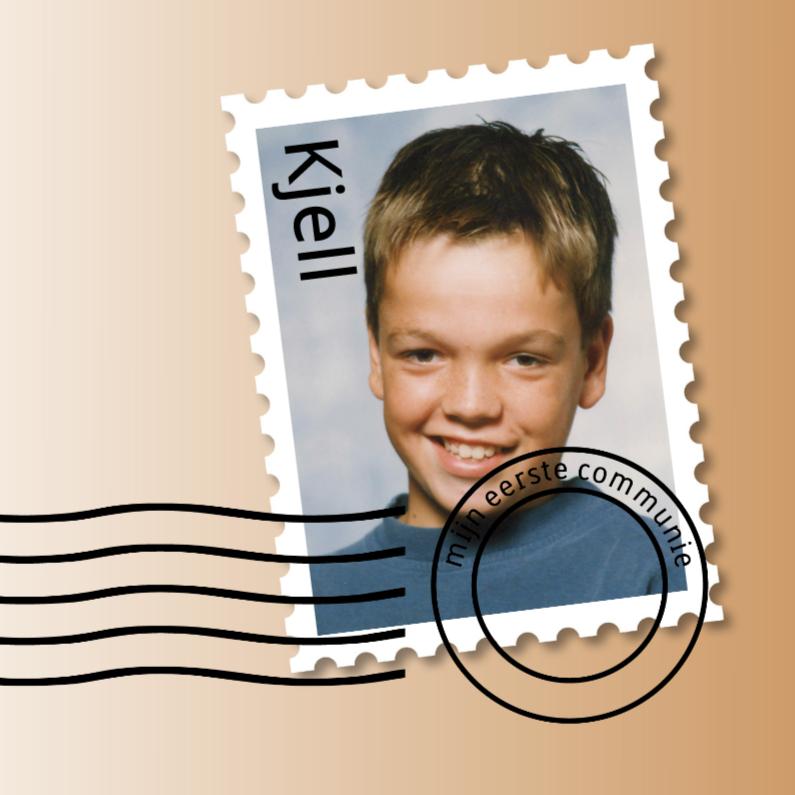 Communiekaarten - communie postzegel jongen