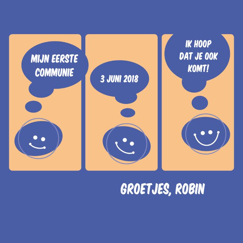 Communiekaarten - communie stripverhaal jongen