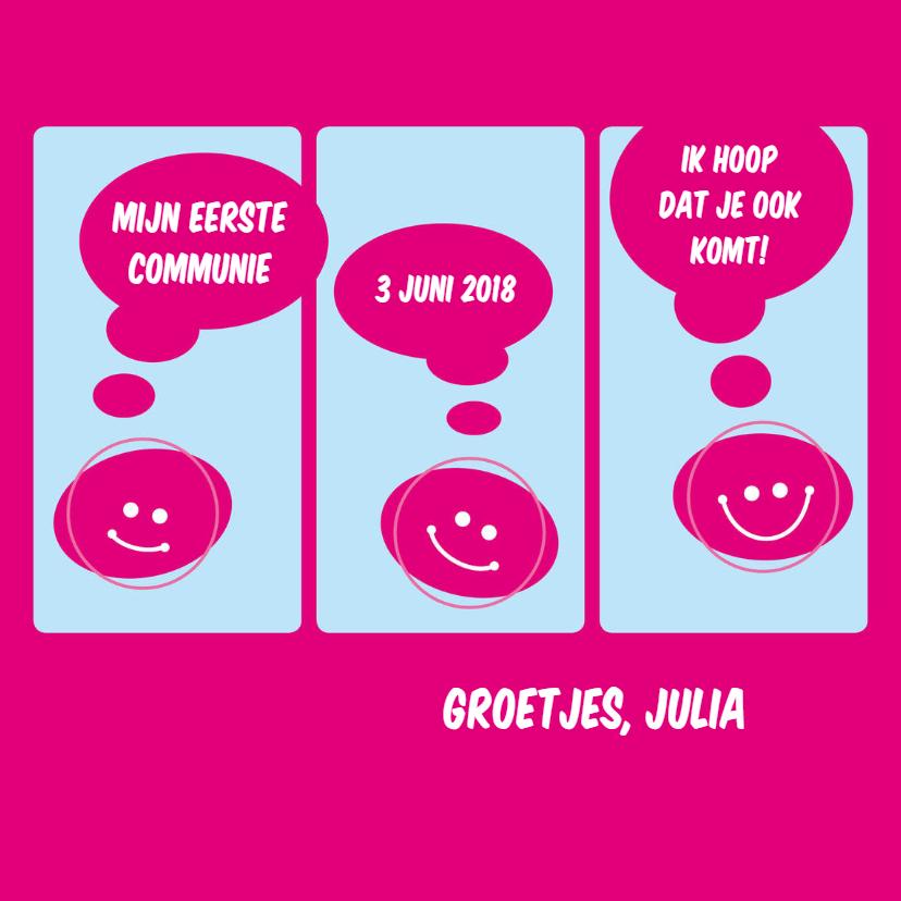 Communiekaarten - communie stripverhaal meisje