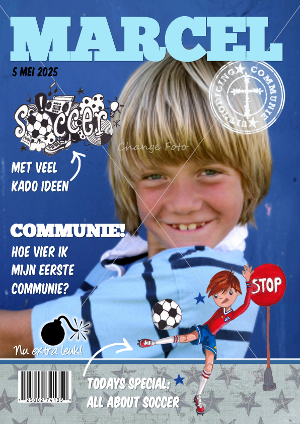 Communiekaarten - Communie TIJDSCHRIFT COVER sport