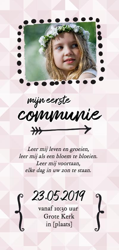 Communiekaarten - Communie - uitnodiging foto langwerpig