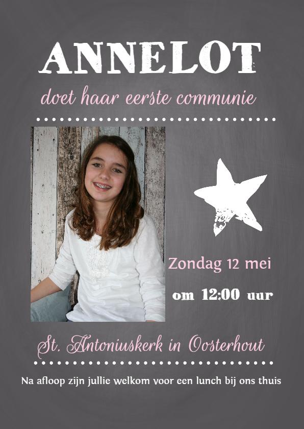 Communiekaarten - Communiekaart Annelot krijt