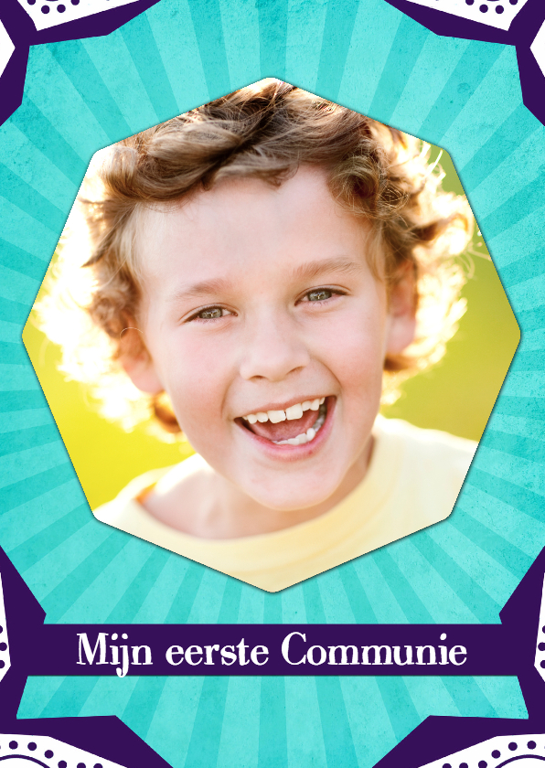 Communiekaarten - Communiekaart aqua lijnen - BK
