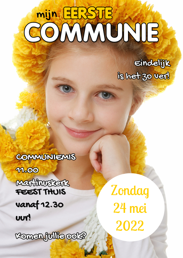 Communiekaarten - Communiekaart Cover Tijdschrift