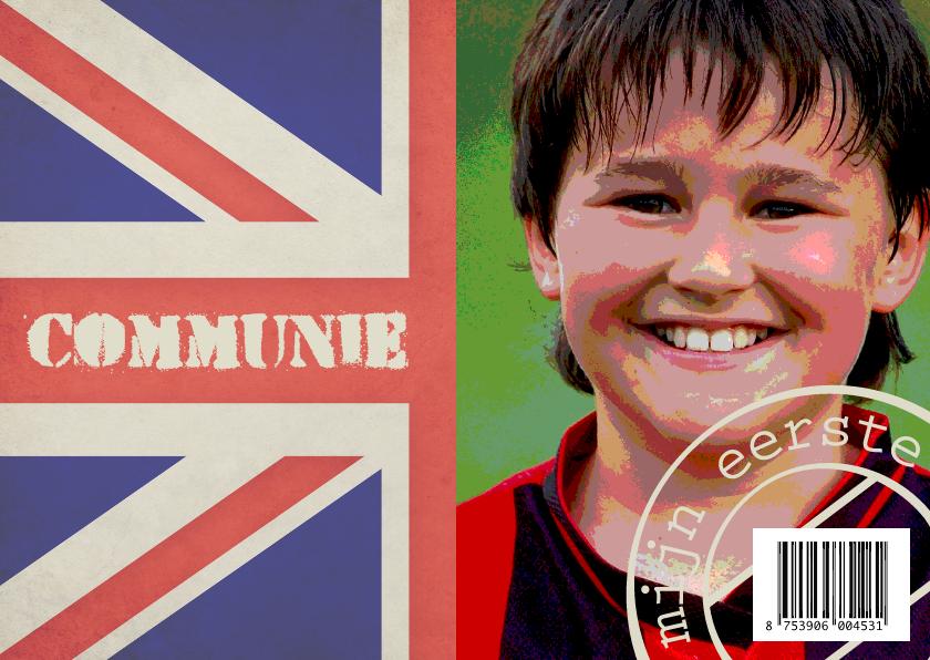 Communiekaarten - Communiekaart Engelse vlag - BK