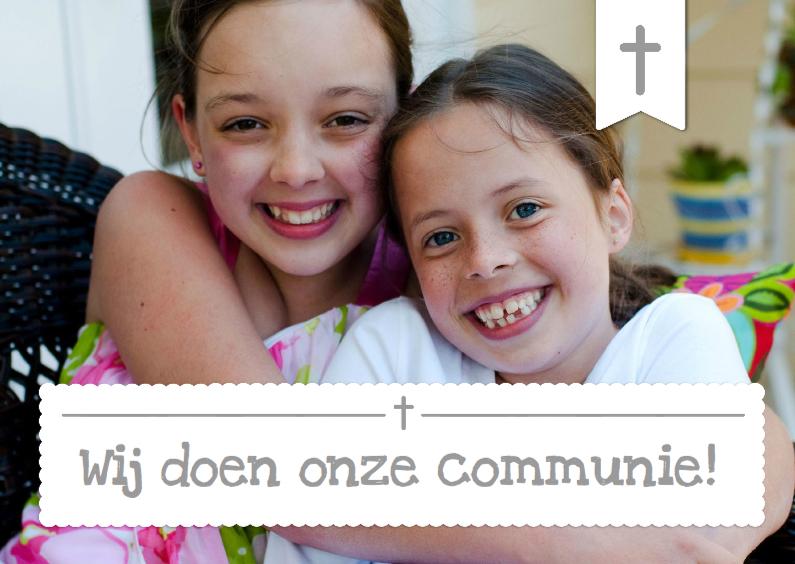 Communiekaart Foto 2 personen 1