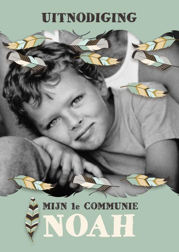 Communiekaarten - Communiekaart met natuur en veren