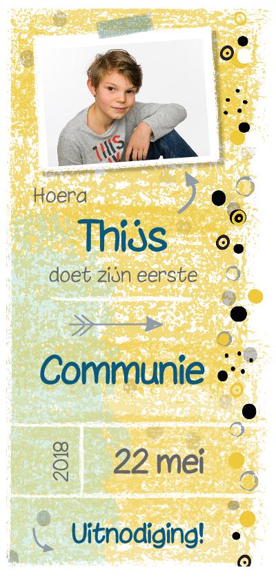 Communiekaarten - Communiekaart voor jongen