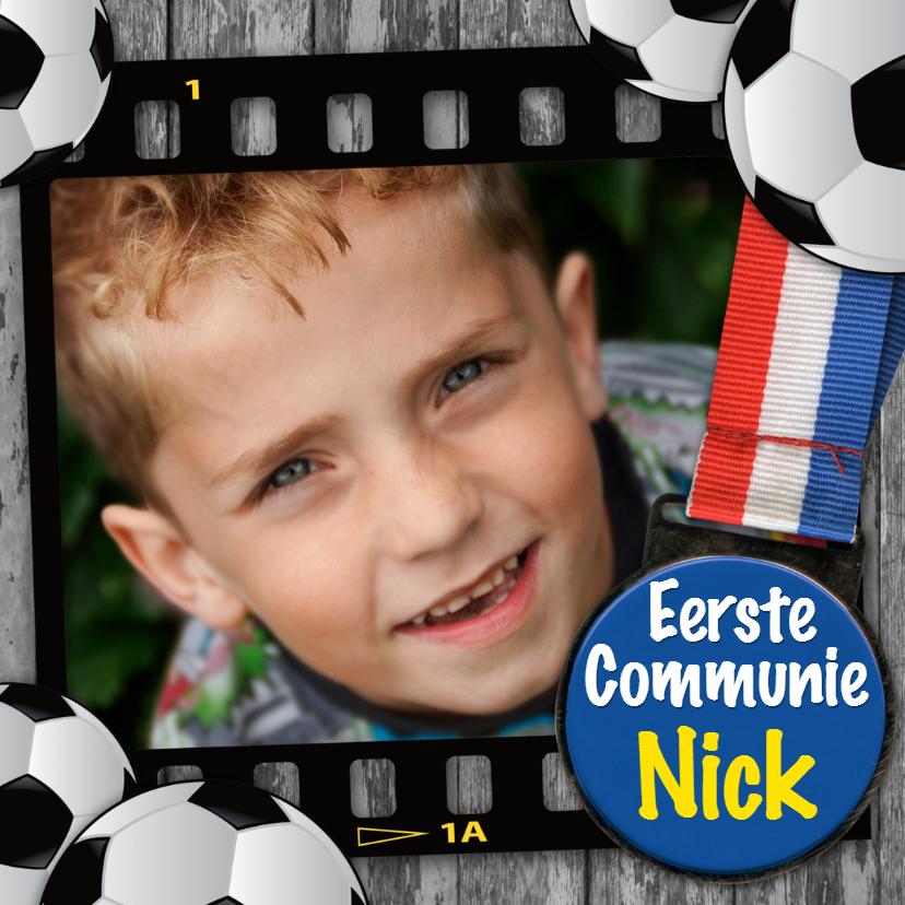 Communiekaarten - communiekaart vormsel voetbal