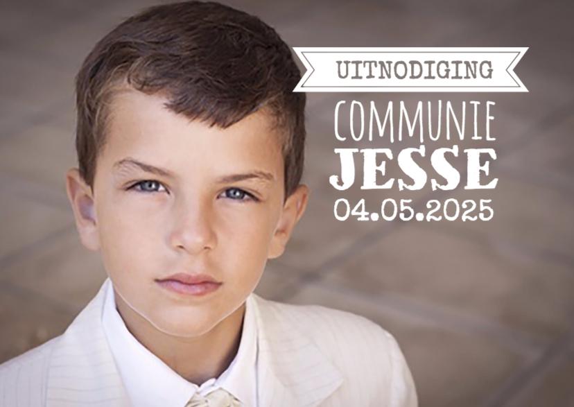 Communiekaarten - Grote foto communie-isf