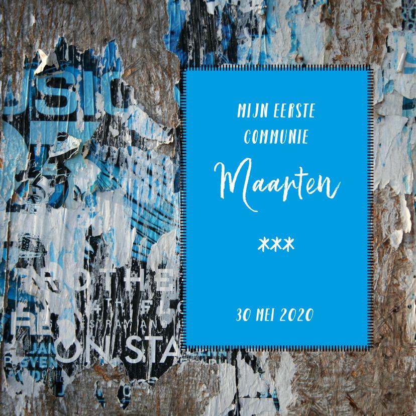 Communiekaarten - grunge poster uitnodiging felicitatie j