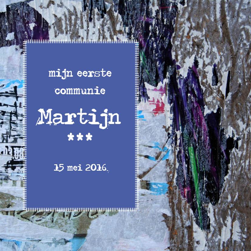 Communiekaarten - grunge poster uitnodiging of felicitatie